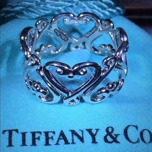 Tiffany&Co Paloma Picasso heart band ring size 8